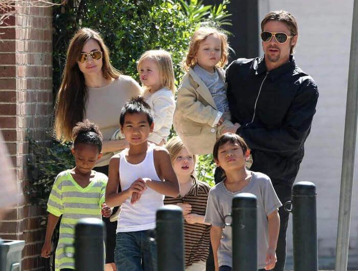 Джоли, Питт и дети