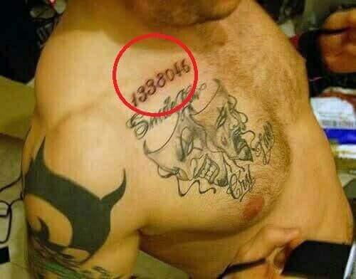 татуировка тома харди с номером