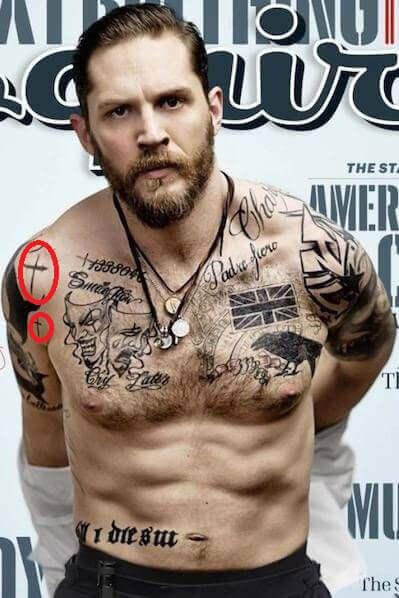 татуировка креста у тома харди
