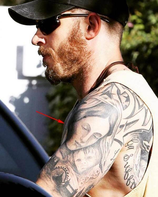 татуировка мадонна у тома харди