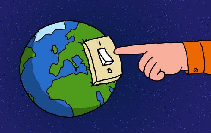 планета Земля и выключатель