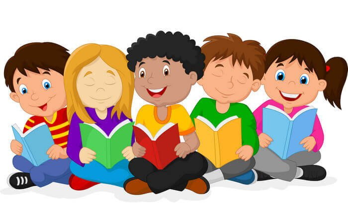 дети читают книги