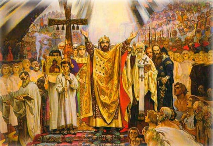 картина Васнецова Крещения Руси