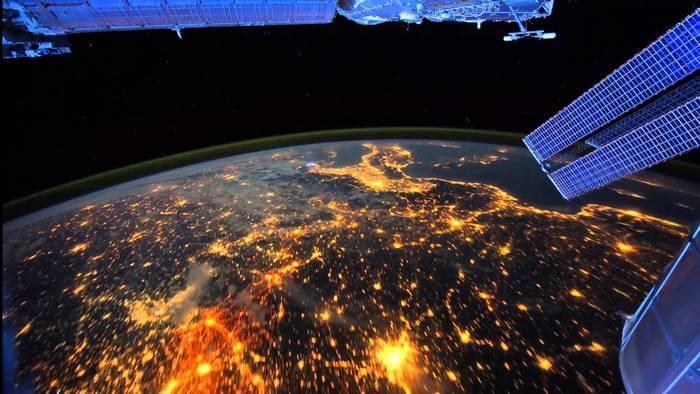 ночная Земля из космоса