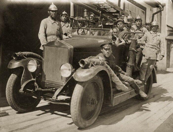 пожарная машина начала 20 века
