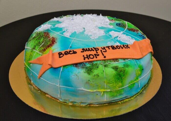 торт с континентами