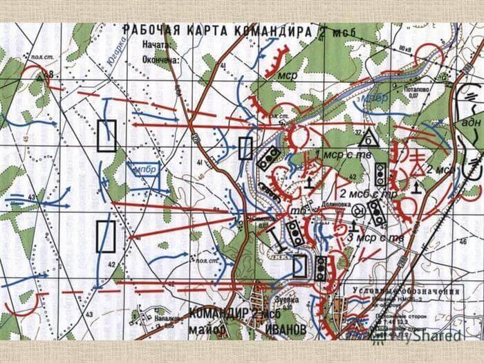 военная топографическая карта