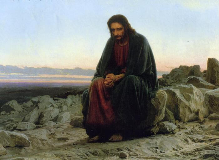 """картина """"Христос в пустыне"""""""
