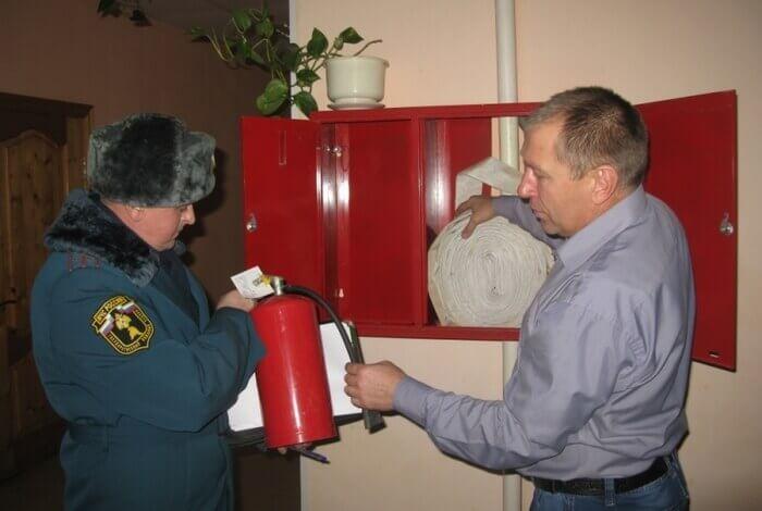 проверка огнетушителей пожарным надзором