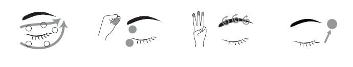 Техника массажа глаз