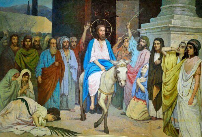 въезд Господа в Иерусалим на ослице